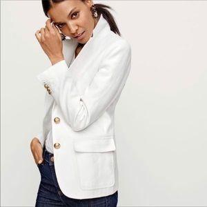 Jcrew White Linen Jacket